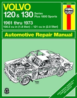 Haynes 97010 Volvo 120 & 130 Series, and P1800 Sports Repair Manual for 1961 thru 1973