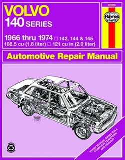Haynes 97015 Volvo 140 Series Repair Manual for 1966 thru 1974