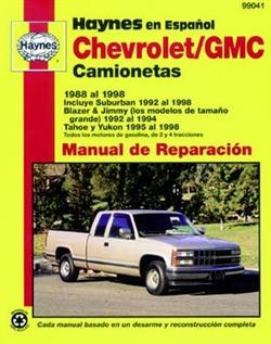 Haynes 99041 Chevy - GMC Vans Repair Manual for 1988 To 1998