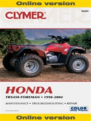 Clymer Honda Foreman - TRX 450 Online Repair Manual