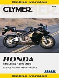 Honda CBR 600 Manual (CBR600RR)