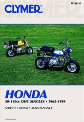 Honda Z50, C70, CL70, CT70, SL70, XL70, S90, SL90, ST90, CL90, CT90, CT110 Manual