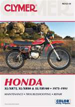Honda XL100, XL75, XL80, XR100, XR75, XR80 Manual