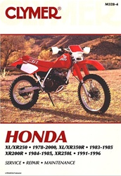 Honda XL 250 / 350 - XR 200 / 250 / 350 Manual