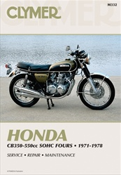 Honda CB550, CB500, CB400, CB350 Manual