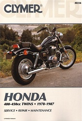 Honda CM400, CB400, CMX450 Rebel, CB450 Nighthawk, Hondamatic Manual