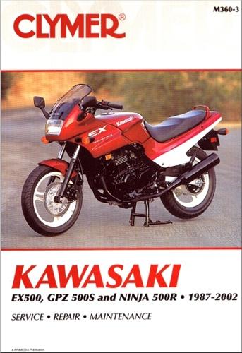 Kawasaki Ninja Manual (EX500, GPZ500S, 500R) 1987-2002 on