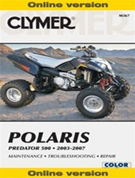 Clymer Polaris Predator 500 Repair Manual