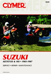 Clymer Suzuki ALT125 - LT125 - ALT185 - LT185 Repair Manual