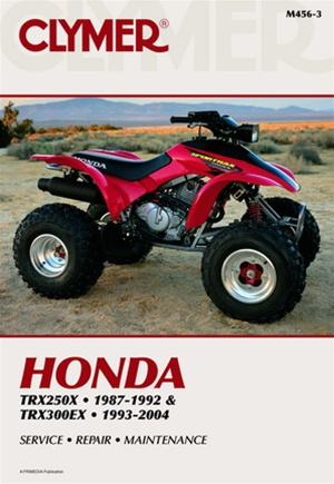 honda 250x 300ex manual repair service shop rh themanualstore com 1999 Honda FourTrax 300 Manual 1997 honda fourtrax online manual