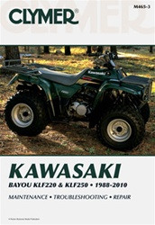 Clymer Kawasaki Bayou KLF220 and KLF250 Repair Manual