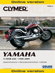 Yamaha V-Star Service and Repair Manual (650 Series)