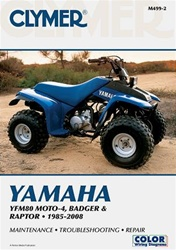 Clymer Yamaha YFM80 MOTO-4, BADGER, Raptor Repair Manual