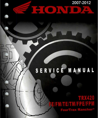 honda trx420 manual service manual rh themanualstore com honda fourtrax 350 service manual honda fourtrax 350 service manual pdf